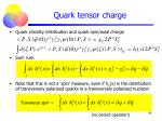 quark tensor charge