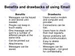 benefits and drawbacks of using email