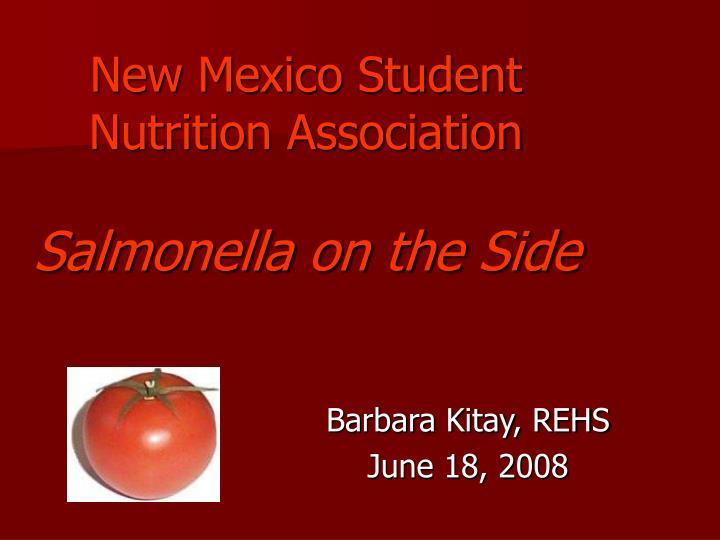 new mexico student nutrition association salmonella on the side n.
