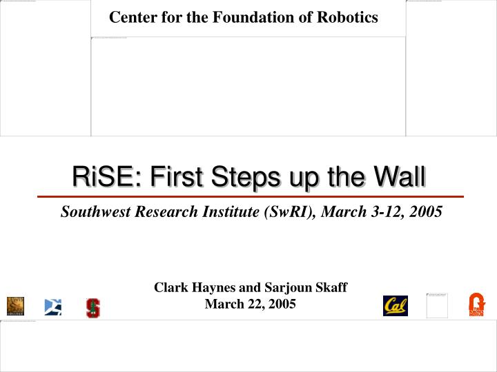 rise first steps up the wall n.