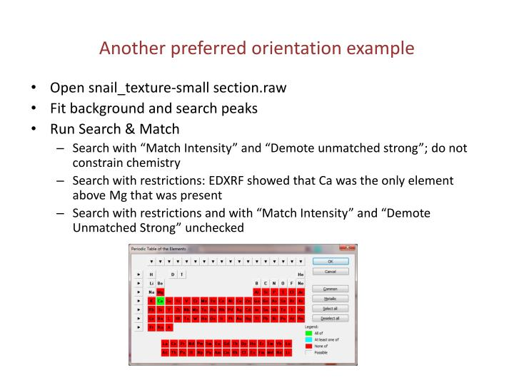 Another preferred orientation example