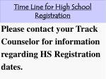 time line for high school registration