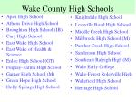 wake county high schools