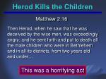 herod kills the children