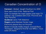 canadian concentration of o