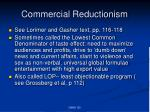 commercial reductionism