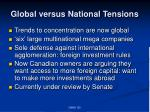 global versus national tensions