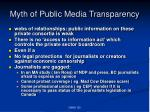 myth of public media transparency