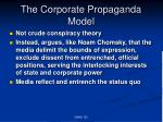 the corporate propaganda model