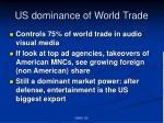 us dominance of world trade