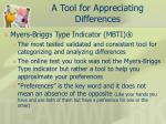 a tool for appreciating differences