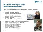 vocational training in j lich dual study programmes