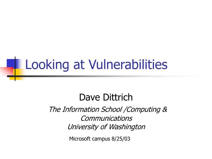 looking at vulnerabilities n.