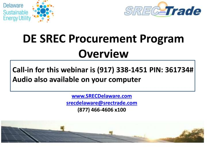 de srec procurement program overview n.