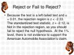 reject or fail to reject