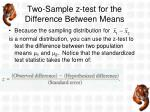 two sample z test for the difference between means2