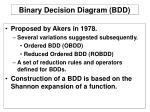 binary decision diagram bdd
