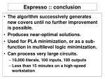 espresso conclusion