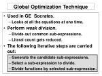 global optimization technique