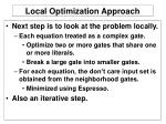 local optimization approach