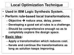 local optimization technique