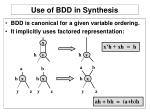 use of bdd in synthesis