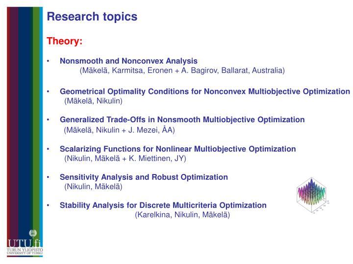 Research topics