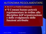 autonomia regolamentare