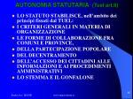 autonomia statutaria tuel art 61