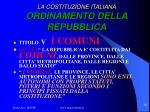 la costituzione italiana ordinamento della repubblica1
