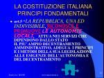 la costituzione italiana principi fondamentali