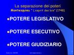 la separazione dei poteri montesquieu l esprit des lois 1748