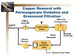 copper removal with permanganate oxidation and greensand filtration