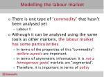 modelling the labour market1