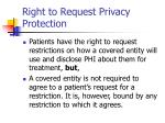 right to request privacy protection