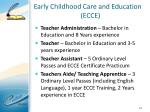 early childhood care and education ecce1