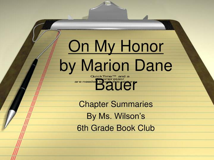 on my honor by marion dane bauer n.