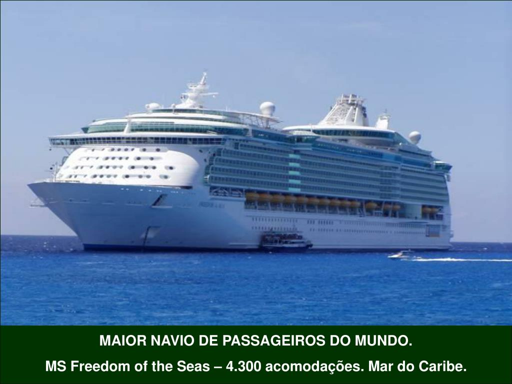 MAIOR NAVIO DE PASSAGEIROS DO MUNDO.