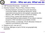 n134 who we are what we do