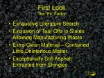 first look the ex factor