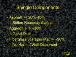 shingle components