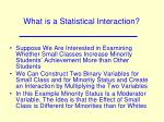 what is a statistical interaction