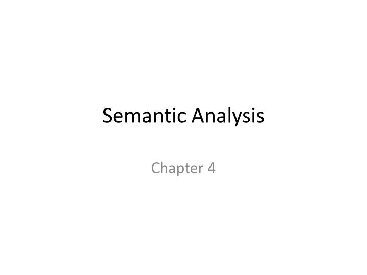 semantic analysis n.