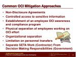 common oci mitigation approaches