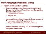 our changing environment cont