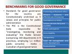 benchmarks for good governance