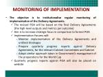 monitoring of implementation