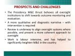 prospects and challenges