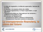 la transparencia financiera la clave del futuro