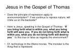 jesus in the gospel of thomas